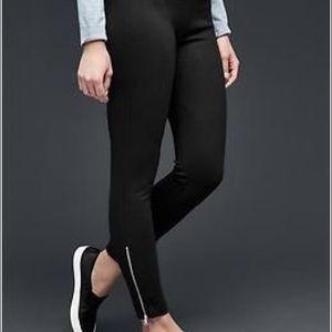 GAP Black Zipper Ankle Leggings